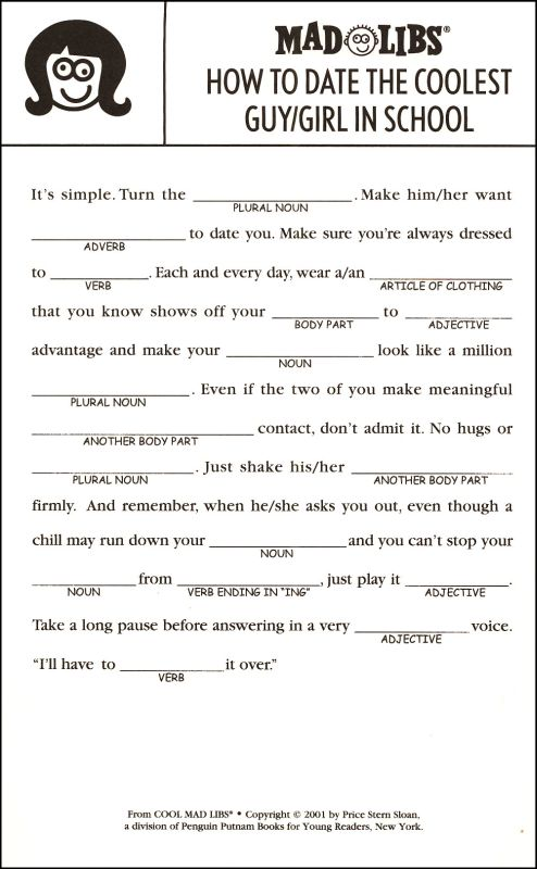 Hilaire image with adult mad libs printable