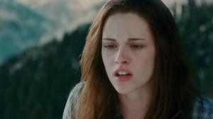 I wanted to find a picture of Bella crying, but, yeah, this is pretty much Kristen Stewart's only face, I guess.