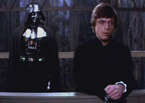 Also pretend Vader kept telling Luke he was better than him because Luke keeps using the Force to get what he wants.