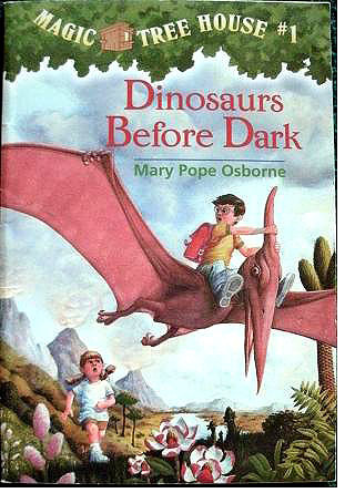 """Cover of the book Dinosaurs Before Dark"""