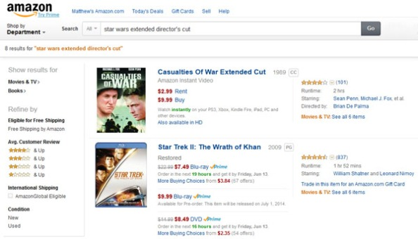 Even more embarrassing, Star Trek shows up on this search instead.
