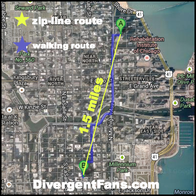 The Dauntless Zipline Through Chicago, Because Dauntless: Divergent on