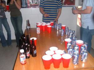 [Matthew, two years later: Would you believe that this was the best picture of beer pong on the internet in 2012? Seriously! I looked around a lot!]