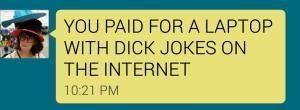 christina laptop text