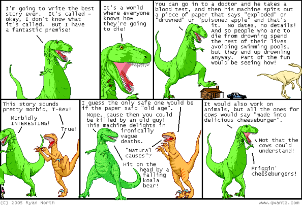 dinosaur comic machine of death