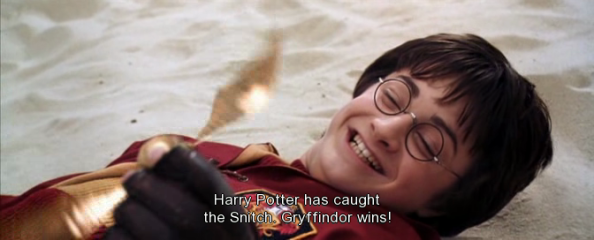 Although the Quidditch scenes arguably still have this problem